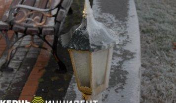 Фото замерзшей набережной в Керчи